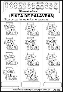 Formando palavras com a letra X