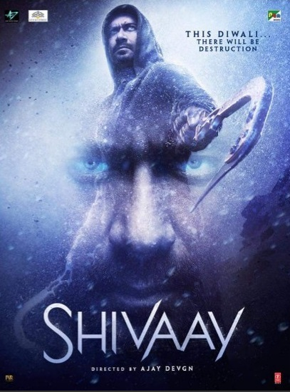 Poster Of Shivaay 2016 480p Hindi DVDScr Full Movie Download