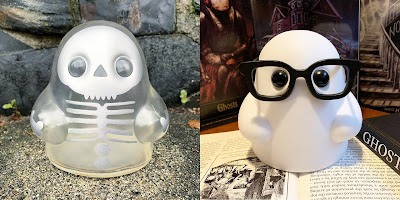 Tiny Ghost Silver Specter & Nerdy Ghost Edition Vinyl Figures by Reis O'Brien x Bimtoy x Bottleneck Gallery