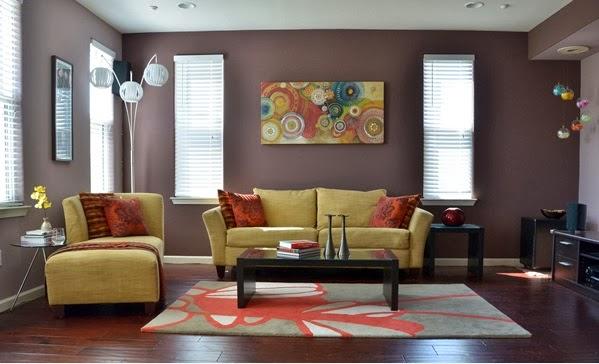 id es de peinture pour salon d coration salon d cor de salon. Black Bedroom Furniture Sets. Home Design Ideas