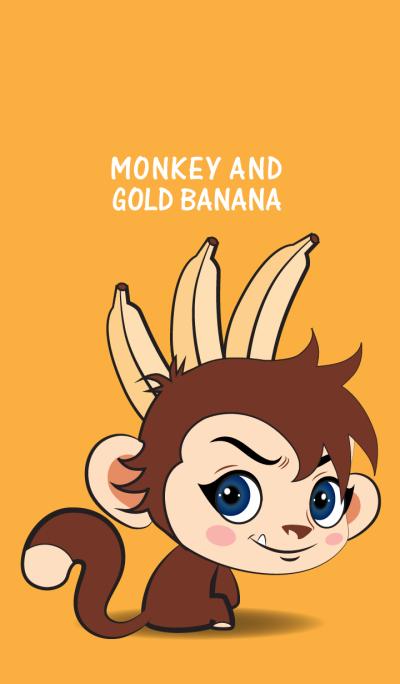 monkey and gold banana