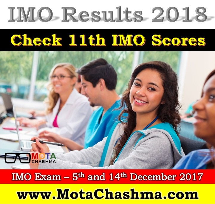 IMO Results – 11th IMO Olympiad 2017-18 Result