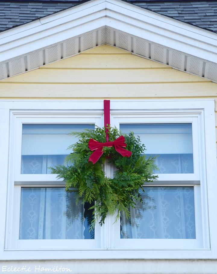 Weihnachtsdeko DIY Kranz Thuja und Buchs selber machen für Haustür und Eingangsbereich, Christmas Wreath, Deko Dekoration, Tür Fenster weihnachtlich Eingang Kränze