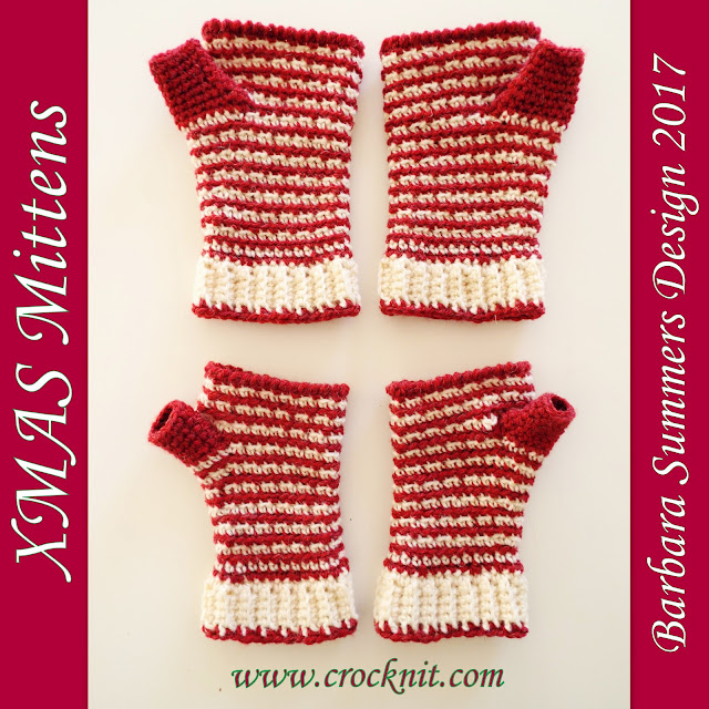 how to crochet, crochet patterns, mittens, fingerless, gloves, xmas,