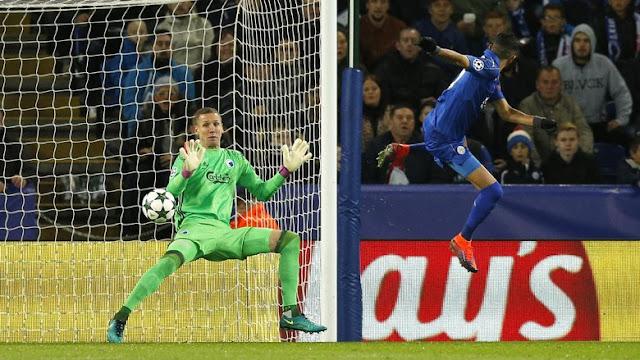 Gol Mahrez Bikin Leicester Ungguli FC Copenhagen 1-0 Saat Half Time