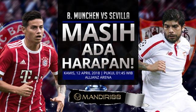 Prediksi Bayern Munchen Vs Sevilla, Kamis 12 April 2018 Pukul 01.45 WIB