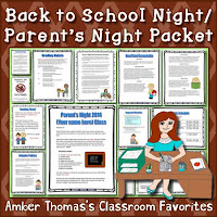 https://www.teacherspayteachers.com/Product/Back-to-School-Night-Packet-Parent-Handout-and-Tips-261202