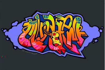 motoblog reuben: 3d Graffiti Art