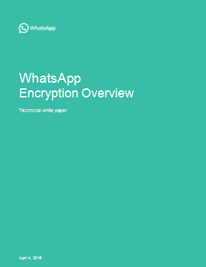 WhatsApp Encryption Overview - Techical Details of end-to-end Encryption Algorithm