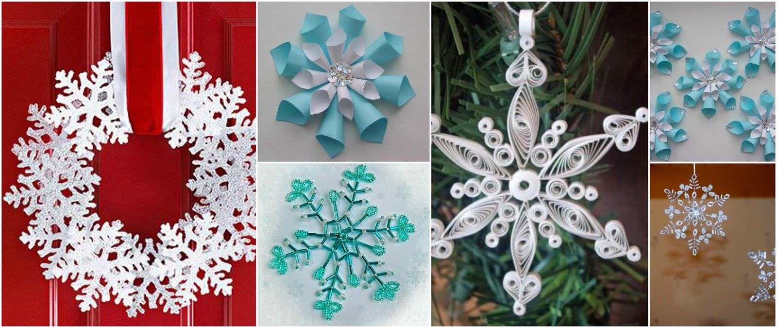 11 Ideas bonitas para hacer copos de nieve en navidad ~ Manoslindas.com