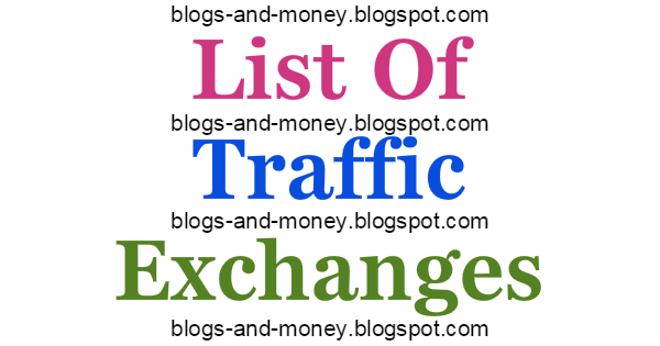 List Of Traffic Exchanges