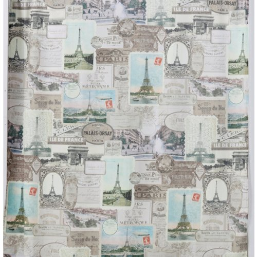 Fabric Shower Curtains with French Script & Other Words of ...