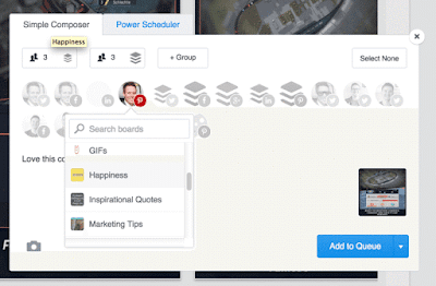 Buffer easily lets you manage your Pinterest