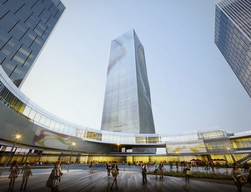 Plaza view of Impressive Fangda Business Headquarters