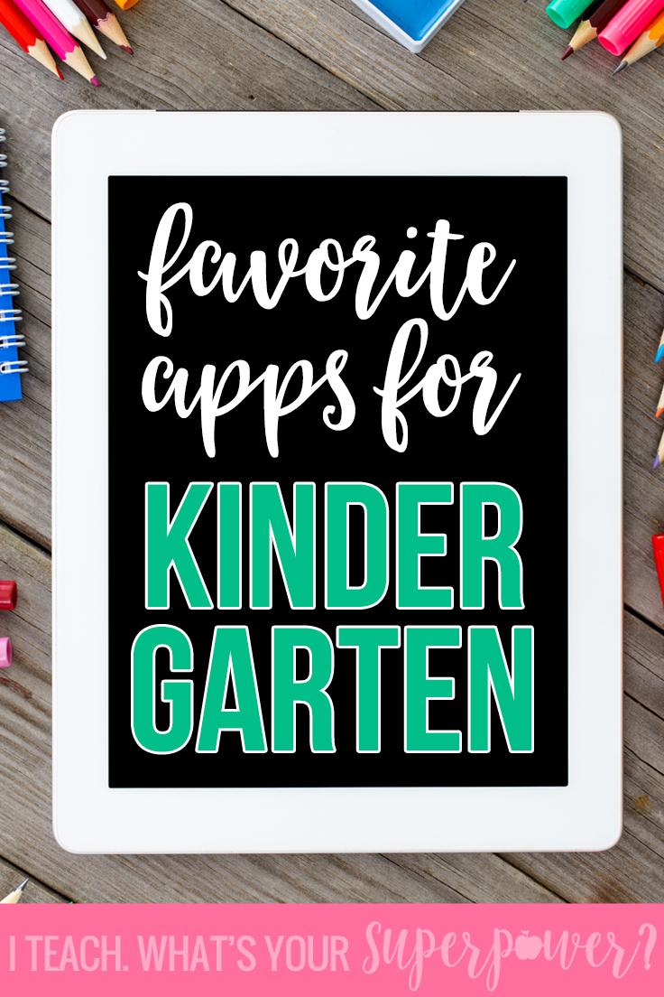 Favorite reading apps for kindergarten
