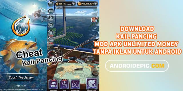 Game memancing terbaik versi terbaru V 2.2.7 di HP Android mod apk 2019 tanpa root dengan fitur unlimited money tanpa iklan.