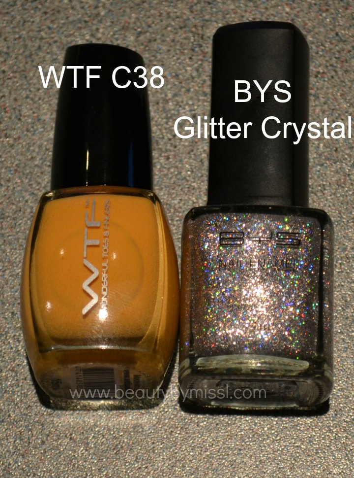 WTF Wonderful Toes&Fingers C38, BYS Glitter Crystal