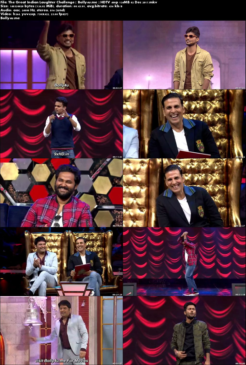 The Great Indian Laughter Challenge HDTV 480p 140MB 02 Dec 2017 Download