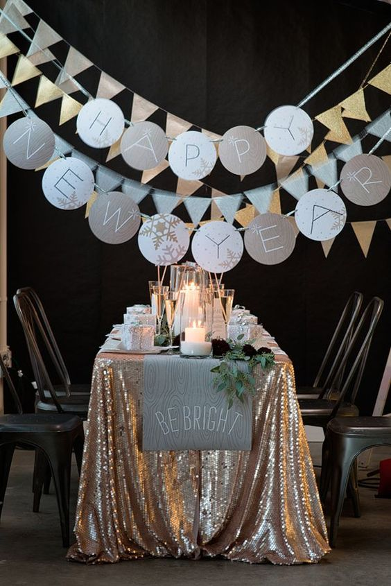 New Year's Eve Party Set Up- So Lovely!