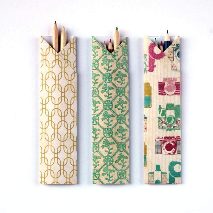DIY ORIGAMI PENCIL HOLDERS