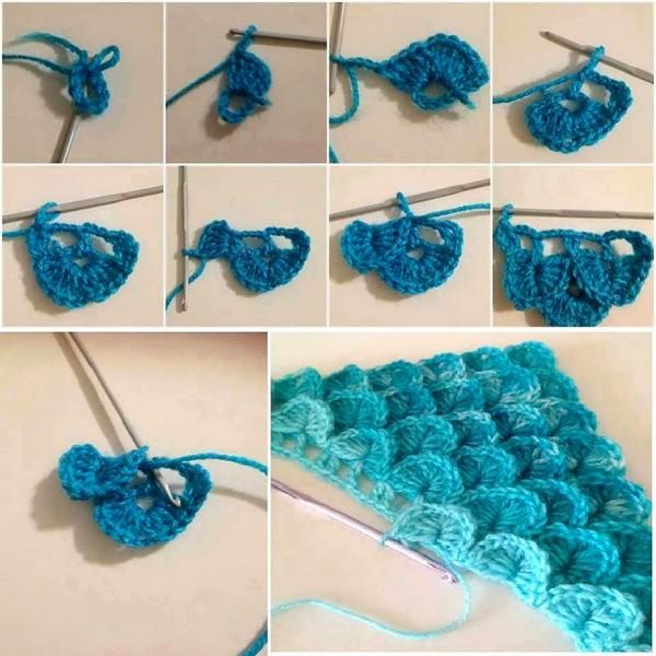 How To Crocodile Stitch Crochet Free Pattern