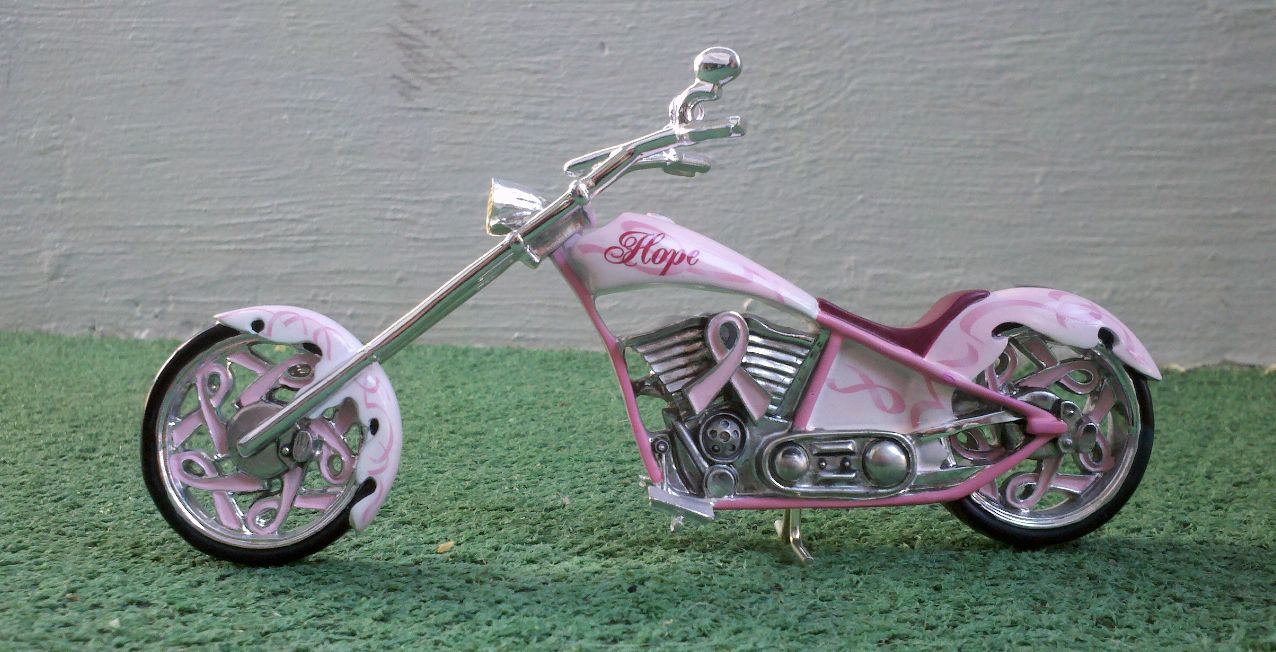 pink motorcycle cancer breast chopper sweet mom awareness support hope
