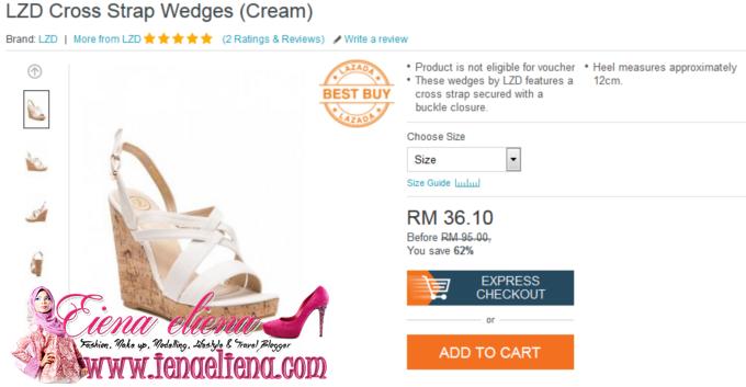 cik iena beli wedges ni RM 33 sahaja