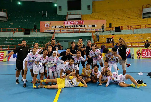 Kebumen United Angels Puncaki Klasemen Liga Futsal Wanita Profesional