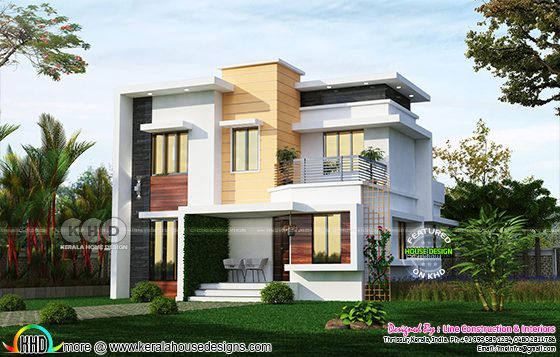 Nice looking budget friendly 4 bedroom Kerala home design