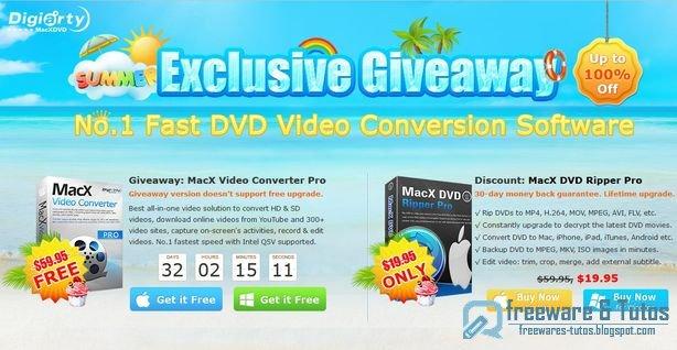 Offre promotionnelle : MacX HD Video Converter Pro gratuit pendant 31 jours !