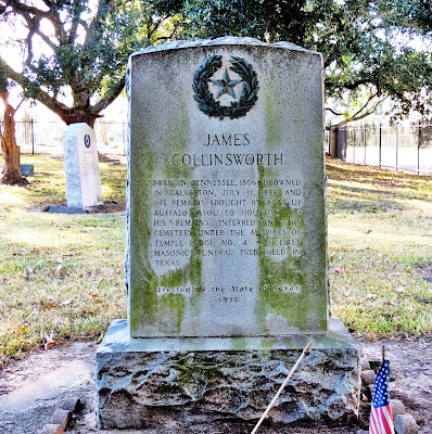 James Collingsworth Grave Site (drowned in Galveston in 1839)