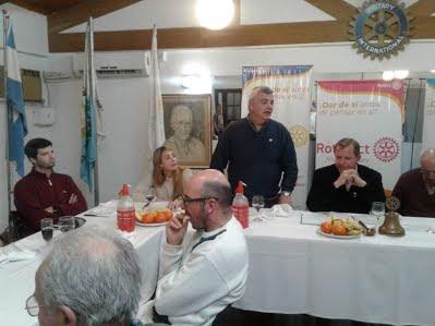 Fragmento del discurso del Ing. Carlos Alberto TASSAROLI en Rotary Club San Rafael.