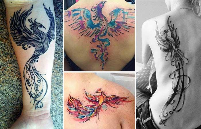 anka kuşu dövme modelleri phoeniz tattoo designs