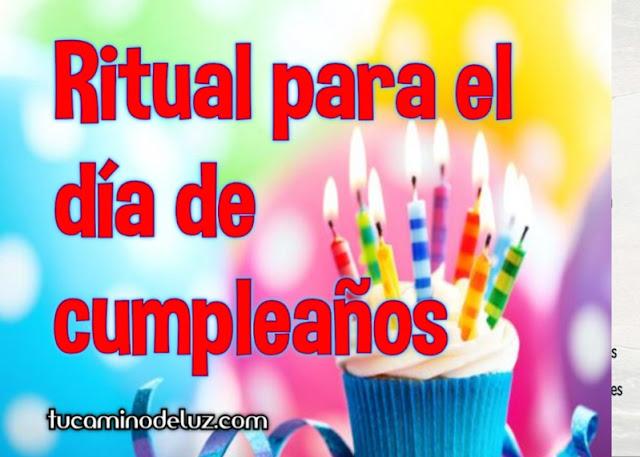 Ritual para el  día de cumpleaños