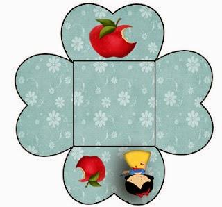 Cajitas abiertas para poner caramelos, mazapanes o pastelitos.
