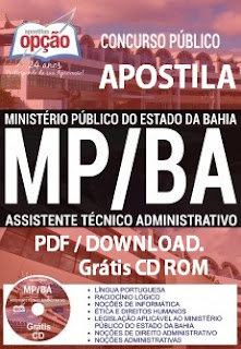 Apostila Ministério Público-BA 2017 assistente administrativo