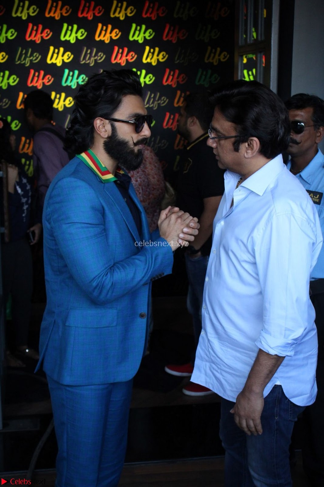 Ranveer Singh in Blue Blazer Spotted Life Bar ~ CelebsNext Exclusive