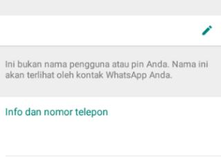 langkah mudah bikin nama profile dan info whatsapp menjadi blank