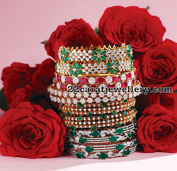 Diamond Bangles New Collection