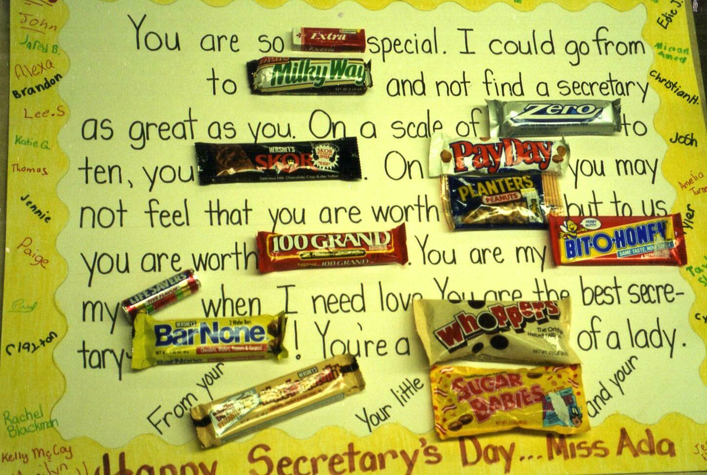 Staff Appreciation Although This One Is Geared Toward A Secretary ...