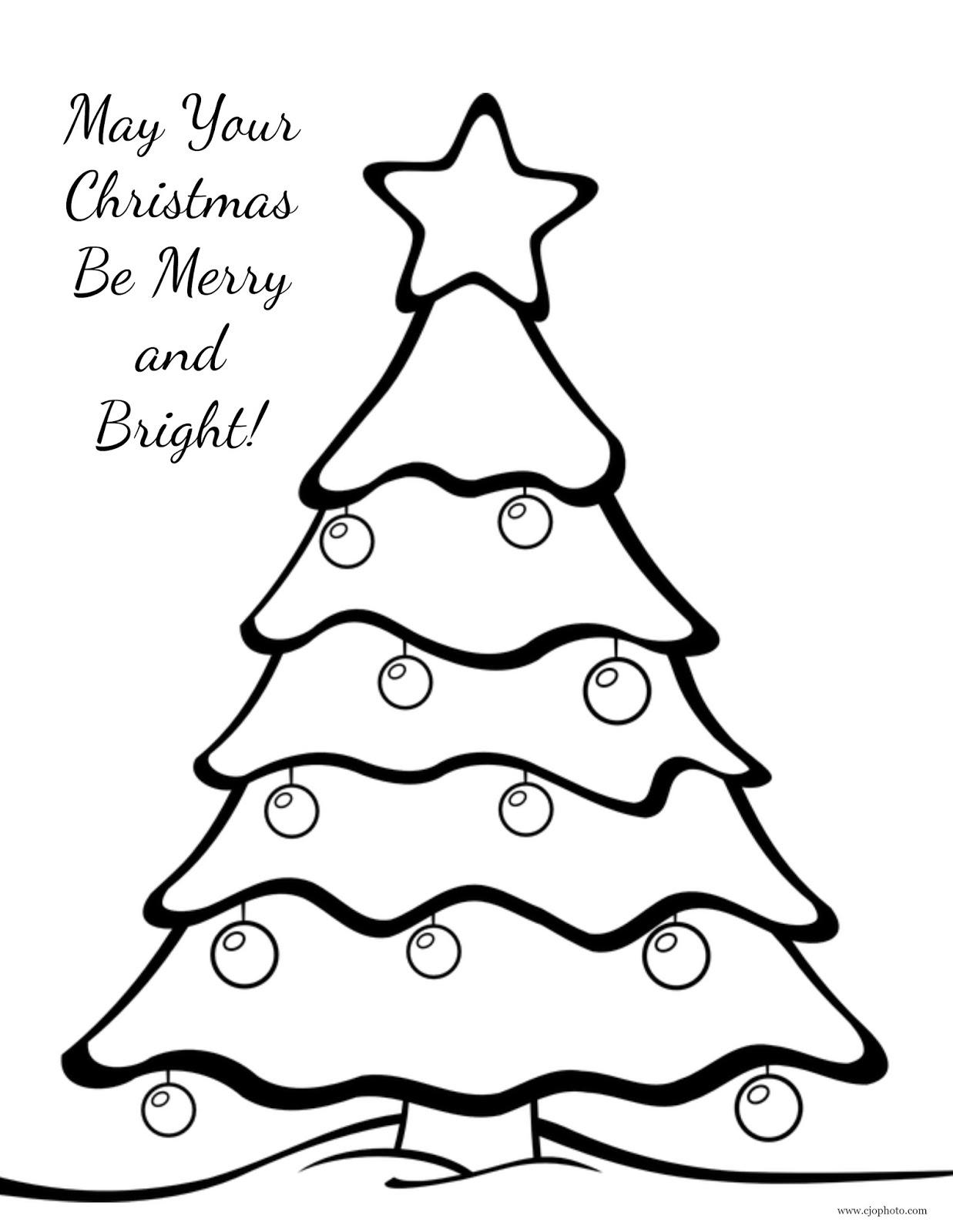 CJO Photo: Christmas Coloring Page: Christmas Tree