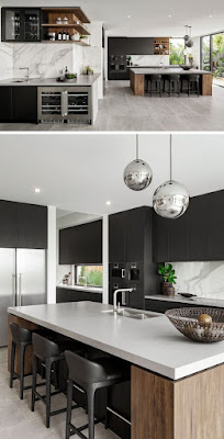 Black and White Small Kitchen Ideas
