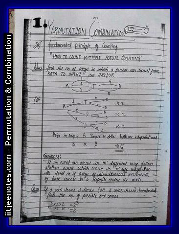 IITJEE Notes on Permutation & Combination
