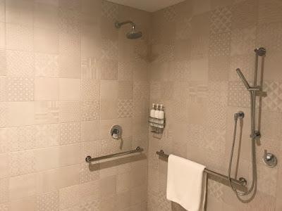 Luxury shower at La Peer