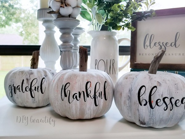 dollar store pumpkins that look like antiques