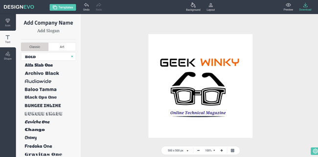 Online Tool To Create Free Logo For Your Business | Geek Winky