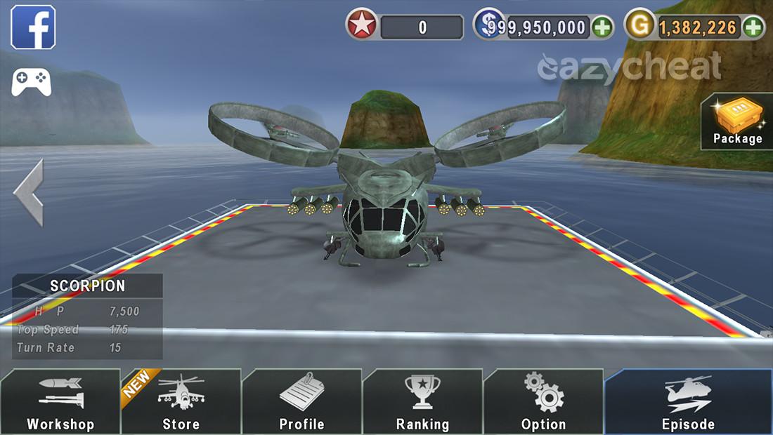 Download Gunship Battle Helicopter 3D Cheats Mod for
