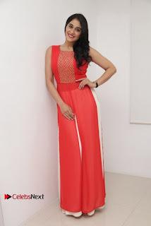 Actress Model Regina Candra Latest Pos in Beautiful Red Dress  0021.jpg