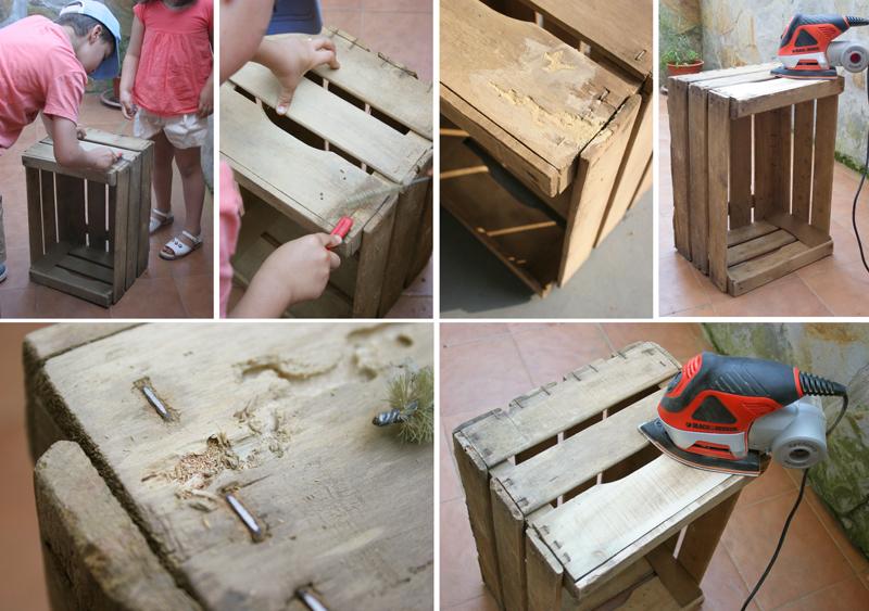 Decorar en familia: Diy juguetero con caja de fruta de madera2