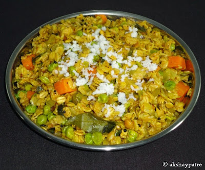 oats upma is a serving plate